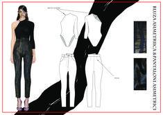 madalina buzas on Behance Fashion Model Sketch, Fashion Design Sketchbook, Fashion Design Portfolio, Fashion Sketches, Fashion Models, Illustration Fashion, Fashion Illustrations, Fashion Flats, Fashion Details