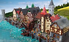 Maydayartist presented at Eurobricks this gorgeous colonial harbor. He applied simple techniques butgetting a brilliant result in the end! Among all details I would like to highlight the cobblesto...