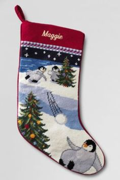 Needlepoint+Christmas+Stocking+from+Lands'+End