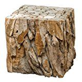 Luxe Rustic Driftwood Bunching Cube Table