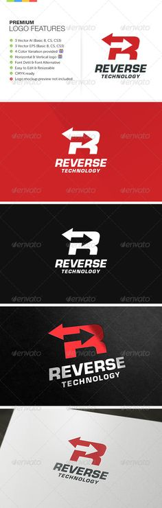 Reverse Technology Logo — Vector EPS #logo #it • Available here → https://graphicriver.net/item/reverse-technology-logo/6318242?ref=pxcr
