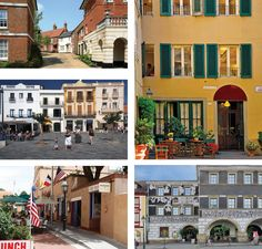Another montage of beautiful buildings. England, Spain, USA, Italy and Italy again. Each represents a different era, a different taste. All work, all have character.