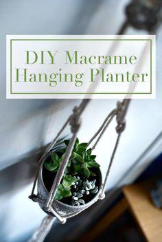 DIY Adorable Macrame Hanging Planter - Macrame Plant Hanger - 100 Best Macrame Ideas for Hanging Plants - DIY & Crafts