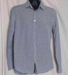 Benetton Sartoria Men's Gray Cotton Long Sleeve Dress Shirt Size 41 (US size 16) #Benetton