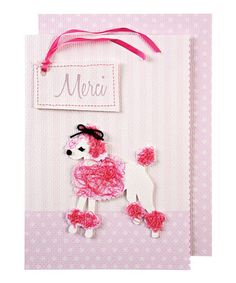 Take a look at this Meri Meri Puffy Poodle Thank You Card by Meri Meri on #zulily today!