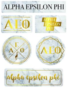 "Stickers -- ""Alpha Epsilon Phi"" Marble Sticker Sheet  $9.99  Be sure to check out our store at:  #AlphaEpsilonPhi #AEP #Sorority #Sticker #AEF #Greek #Marble #Little #Rush #Big"