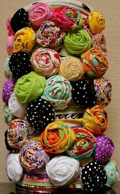 Baby headbands. Sewsassi/etsy
