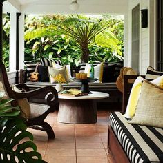 My Dream Home: 10 Porch Decorating Ideas for Every Style Like the layout of furniture very similar to my porch dimensions. The post My Dream Home: 10 Porch Decorating Ideas for Every Style appeared first on Outdoor Ideas. Outdoor Rooms, Outdoor Gardens, Outdoor Living, Outdoor Decor, Outdoor Kitchens, Outdoor Patios, Outdoor Seating, Outdoor Lounge, Indoor Outdoor