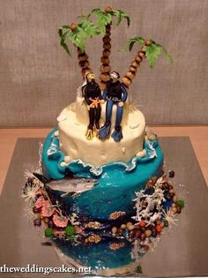 Try Sarah Tops Cake Toppers Scubadiving Weddingcaketopper