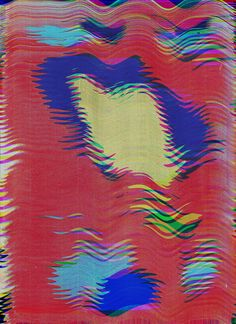 2 Glitch Art, Typography, Abstract, Artwork, Wave, Poster, Painting, Board, Design