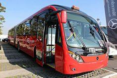 Mercedes benz neobus mega brt congreso internacional de transporte sustentable de México parque bicentenario