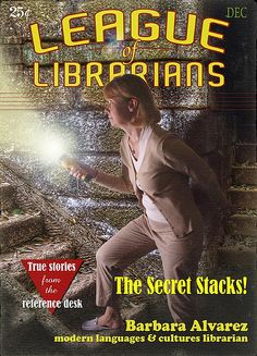 Librarians can be cool! This library photoshopped their librarians into comic book covers, book covers and more for trading cards!