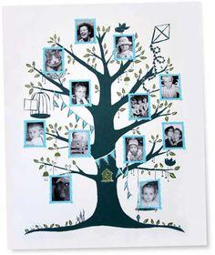 summer idea, tree idea, family trees, creativ kid, famili tree