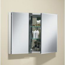 "View the Kohler K-CB-CLC3526FS 35"" x 26"" Double Door Mirrored Medicine Cabinet with Adjustable Glass Shelves at FaucetDirect.com."