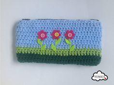 Crochet Flower pouch, Crochet Purse , Pencil Case  Cute Pouch