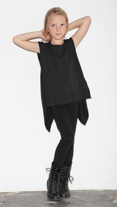 Back Wing Muscle Tee - Black
