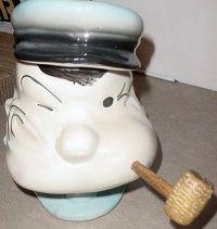 Popeye cookie jar