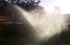 A picture of water emanating from a machine of an Irrigation and Landscaping Co. for sale in Mercer County, NJ - Don Odierno, Vested Business Brokers