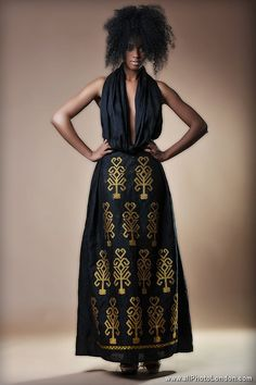 Modern fusion habesha dress - Ethiopian