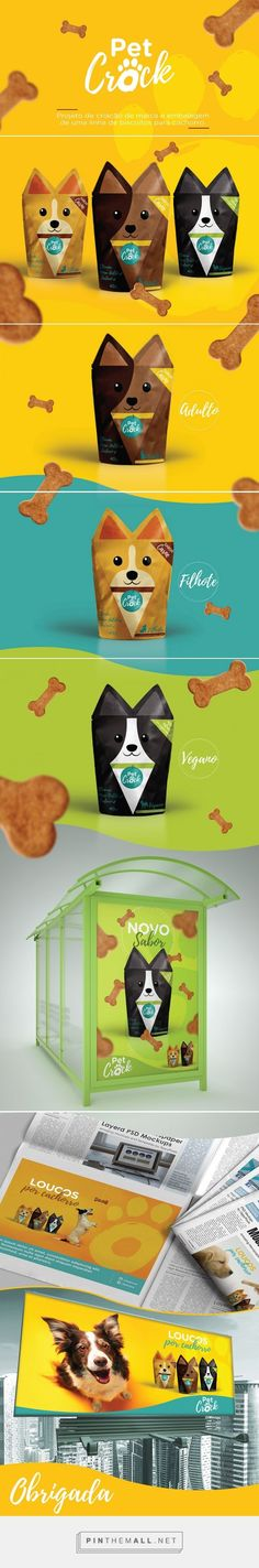 Pet Crock dog cookie packaging design concept by Jessica Santos (Brazil) - http://www.packagingoftheworld.com/2016/09/pet-crock-concept.html