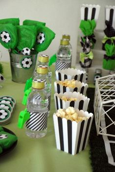Soccer Themed Birthday Celebration - Birthday Party Ideas for Kids and Adults Soccer Birthday Parties, 2nd Birthday Party Themes, Soccer Party, Birthday Party Decorations, Birthday Celebration, Football Theme Birthday, Craft Party, Soccer Baby Showers, Soccer Birthday Cakes