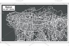#Beirut #Lebanon #City #Map in #Retro by Igor Sorokin on @creativemarket