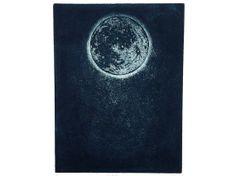 Blue Moon Intaglio Print by empressprints on Etsy, $60.00
