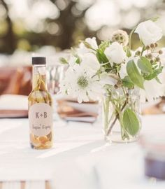 Celebrate your wedding favors with olive oil.  See more ideas for homemade wedding favors and party ideas at www.one-stop-party-ideas.com