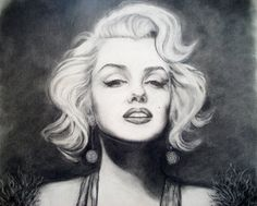 Norma Jeane, Charcoal, Pencil by ~Gingerled on deviantART  || This image first pinned to Marilyn Monroe Art board, here: http://pinterest.com/fairbanksgrafix/marilyn-monroe-art/ ||