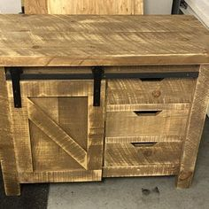 """Rustic Industrial weathered barn board entertainment center TV stand reclaimed wood stand 62 """"(natural brown and gray) Rustic Dresser, Rustic Vanity, Wood Vanity, Rustic Industrial, Rustic Barn, Barn Wood, Weathered Wood, Rustic Wine Cabinet, Large Storage Cabinets"""