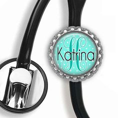 Personalized Stethoscope ID Tag (Blue) - Nursing Student, Gifts for Nurses, Student Nurse Gift, Graduation Gift, Stethoscope Accessories
