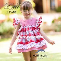 4c351ccd5 Vestido para niña DOLCE PETIT cuadros volantes Vestido Para Niñas Boda
