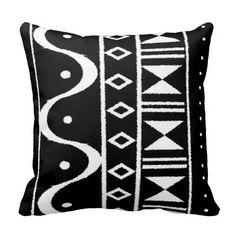 Shop African Print I Black/White Throw Pillow created by LifecyclePrints. White Throws, White Throw Pillows, Black Pillows, Throw Pillow Covers, Decorative Throw Pillows, White Duvet Covers, Bed Covers, Phone Covers, Wedding Pillows