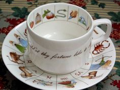 Fortune Telling Tea Cup, Zodiac Signs, Royal Kendal fine bone china, Staffordshire, England