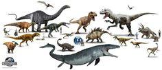 Jurassic World- Jurassic World dinosaurs
