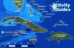Click Cayman Islands area of map to Zoom to Cayman Islands Maps