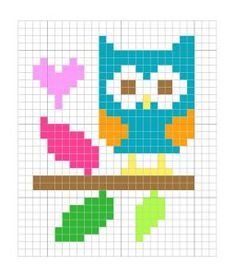 Punto De Cruz blue-owl-freebie-from-the-stitching-shed Tiny Cross Stitch, Cross Stitch Cards, Cross Stitch Animals, Cross Stitch Designs, Cross Stitching, Cross Stitch Embroidery, Embroidery Patterns, Cross Stitch Patterns, Crochet Pixel