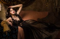 Glamour Fairy Tales- The Black Dress on Behance Beauty Portrait, Wedding Gowns, Fairy Tales, Glamour, Model, Imagination, Portraits, Collection, Black