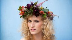 Make a gorgeous crown of flowers for your wedding with a tutorial from House That Lars Built.