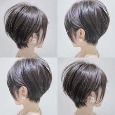 Popular Short Haircuts, Haircuts For Long Hair, Short Bob Hairstyles, Short Hair With Layers, Short Hair Cuts For Women, Short Hair Back View, Medium Hair Styles, Curly Hair Styles, Biolage Hair