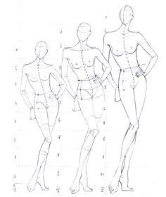 Proportions de la figurine de mode (canon de 8 têtes 1/2 à 10 têtes 1/2) - Intellego.fr