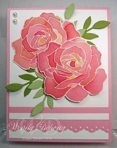 Watercolor Roses - Patty Bennet Technique Fifth Avenue Floral