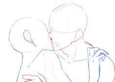 Advice that will help Try to improve Your own understanding of drawing poses Couple Sketch, Couple Drawings, Drawing Couple Poses, Body Sketches, Art Drawings Sketches, Sketch Drawing, Drawing Ideas, Kissing Poses, Drawings Of Couples Kissing