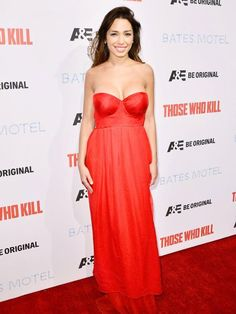 Sofia Valleri attends the premiere party for A&E's Season 2 Of 'Bates Motel' & series premiere of 'Those Who Kill' at Warwick on February 2014 in Hollywood, California. Hollywood Actresses, In Hollywood, Strapless Dress Formal, Formal Dresses, Series Premiere, Bates Motel, Hollywood California, Plunging Neckline, Season 2