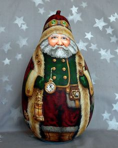 Christmas Ornament Crafts, Christmas Snowman, White Christmas, Costume Steampunk, Painted Gourds, Painted Rocks, Gourds Birdhouse, Santa Doll, Living Dolls