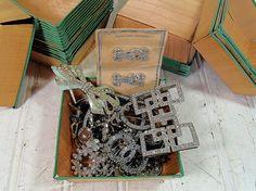 Vintage Rhinestones Silver Tones Jewelry by DivineOrders on Etsy, $55.00