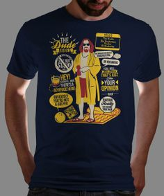 """The Dude"" today only on Qwertee : Limited Edition Cheap Daily T Shirts 