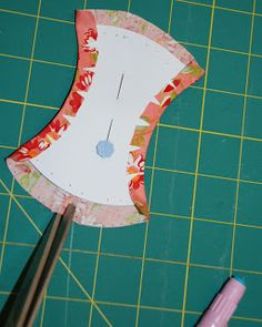Spun Sugar Quilts: Tutorial English Paper Piecing apple core shape, glue-basted