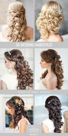 72 Best Wedding Hairstyles For Long Hair 2019 Find your perfect pick of 2019 wedding hairstyles for long hair to stun, charm and enchant. The 72 beautiful hairstyle ideas that inspire are here! Long Hair Wedding Styles, Wedding Hair Down, Wedding Hair And Makeup, Bridal Hair, Short Hair Styles, Chic Wedding, Wedding Ideas, Trendy Wedding, Lace Wedding