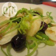 Salat mit Palmenherzen, Brasilien, brasilianisch, Essen, Das Rezept gibts auf Allrecipes Deutschland http://de.allrecipes.com/rezept/17203/brasilianischer-salat-mit-palmenherzen--salada-de-palmito-com-azeitona-e-alho-por---.aspx